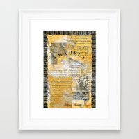 mozart Framed Art Prints featuring Mozart by Victoria Lundin