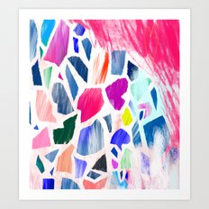 Pink Terrazzo Art Print