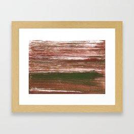 Van Dyke Brown abstract watercolor Framed Art Print