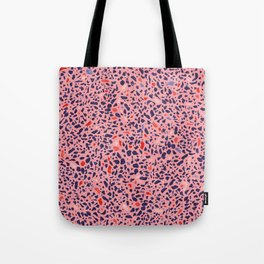 Terrazzo pink red blue Tote Bag