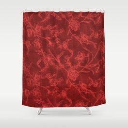 Flower Pattern (Red version) Shower Curtain