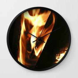 Filter Flames Wall Clock