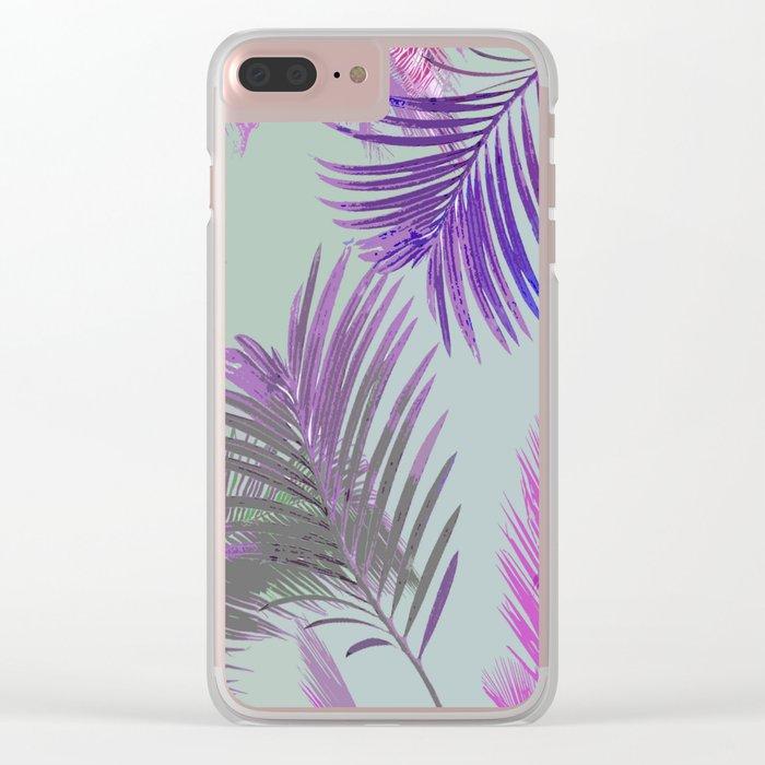 California Dreaming Purple Clear iPhone Case