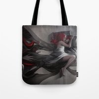 hiphop Tote Bags featuring Oneirology by loish