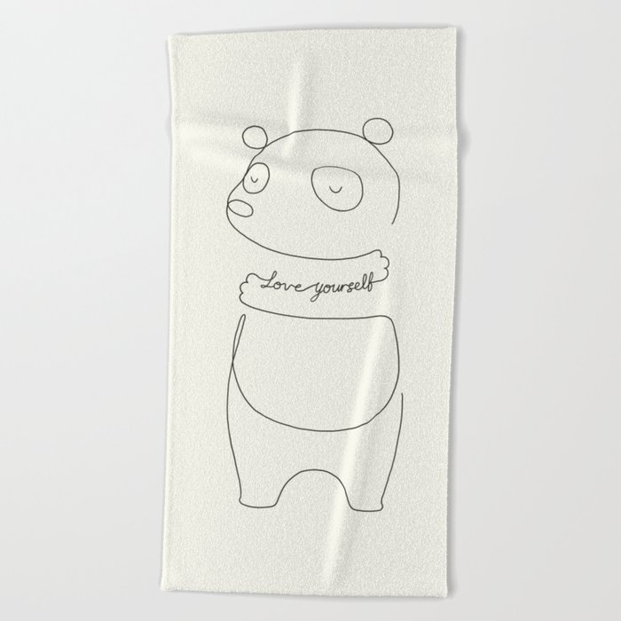 Love Yourself Panda Beach Towel
