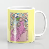 mucha Mugs featuring Mucha Bubblegum by Joyia Kelly