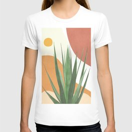Abstract Agave Plant T-shirt