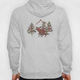 Moose in the Mountains Hoody
