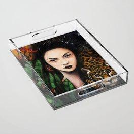 Fierce Beauty Acrylic Tray
