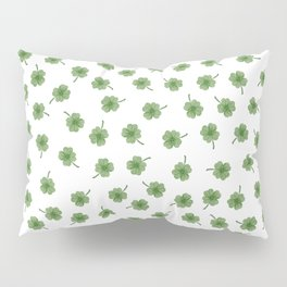 Light Green Clover Pillow Sham