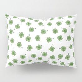 Light Green Clover Pillow Sham