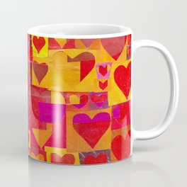 Paper Cutout Hearts Coffee Mug