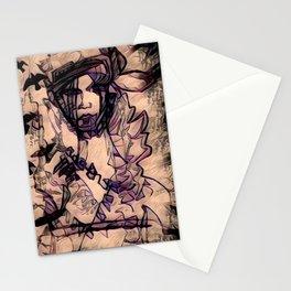 Purple Heart Geisha Stationery Cards