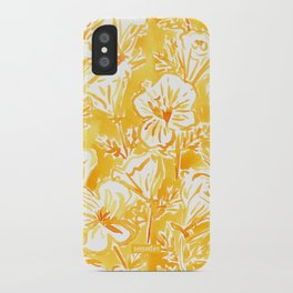 CALI POP Yellow California Poppies iPhone Case