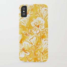 CALI POP Yellow California Poppies iPhone Case