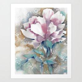 Stencil Rose  Art Print