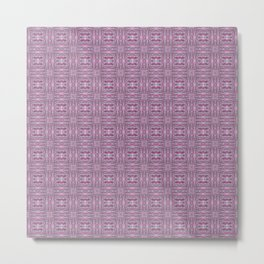 Digital Quilted Padded Lofts - Pink Metal Print