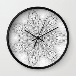 Gray Snowflake Wall Clock