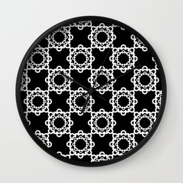 "Art Deco. "" Lola ""  black background . Wall Clock"