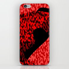 red and black camo abstract 55 iPhone Skin
