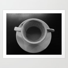 Time share coffee and tea Art Print