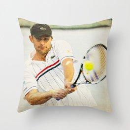 Andy Roddick Tennis Backhand Throw Pillow