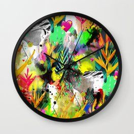 AltErEd tExtUrE Wall Clock