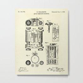 Art of Compiling Statistics-1889 Metal Print