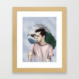 DRØWN IN THE FØREST Framed Art Print