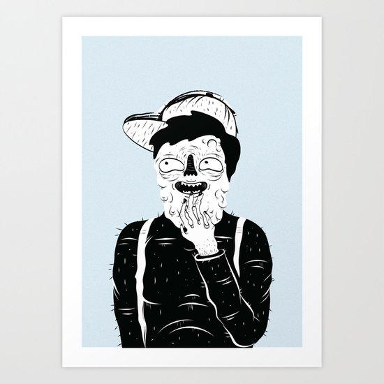 Weird Kid Art Print