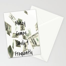 Money Comes Easily & Frequently (law of attraction affirmation) Stationery Cards