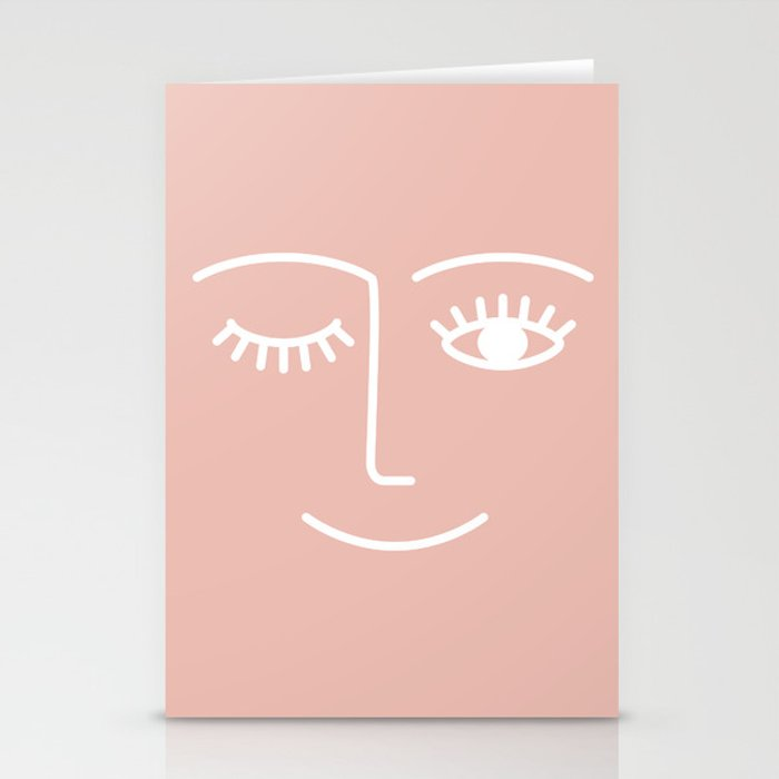 Wink / Pink Stationery Cards