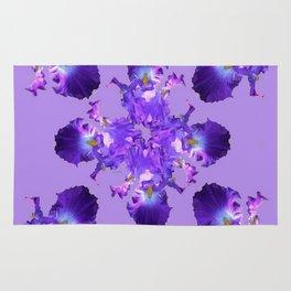 Purple Iris Abstract  Collage Art Rug