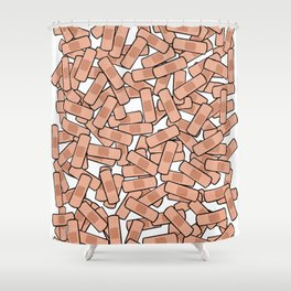 Bandage - Healing Power - On the Mend Shower Curtain