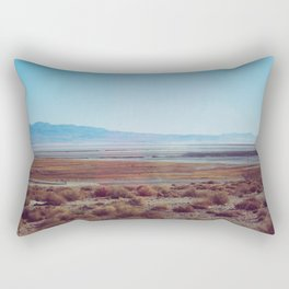 The Remains of Owens Lake Rectangular Pillow