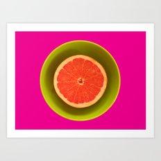 Still life with grapefruit Art Print