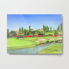 The Bridges Golf Course Rancho Santa Fe 18th Hole Metal Print