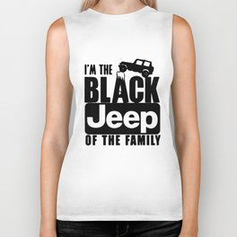 I_M the Black JEEP of The Family funny Truck off road New trucker Biker Tank