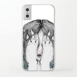 Sometimes I'm sad Clear iPhone Case