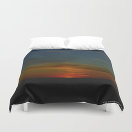 Prairie Sunset #1 (Chicago Sunrise/Sunset Collection) Duvet Cover