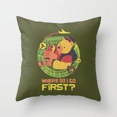 Where Do I Go Now Throw Pillow