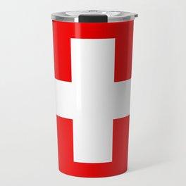 Flag of Switzerland 2x3 scale Travel Mug