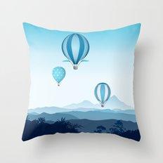 Hot air balloons - blue mountains Throw Pillow