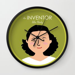 An Inventor like Hedy Lamarr Wall Clock