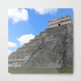 Chichen Itza Temple of Kukulcan south-west View Metal Print