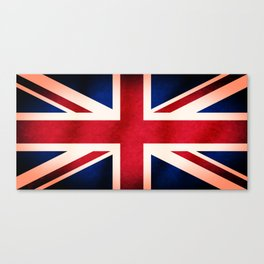 Union Jack UK British Grunge Flag  Canvas Print