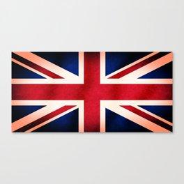 Union Jack UK British Grunge Flag  Canvas Print