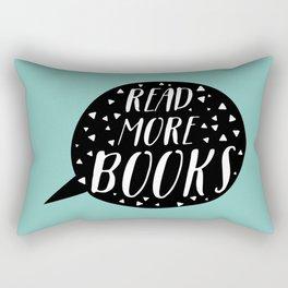 Read More Books (Speech Bubble - Blue) Rectangular Pillow