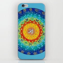 Cosmic Mandala Teal iPhone Skin