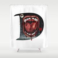 dracula Shower Curtains featuring Dracula by Jhonatan Medina